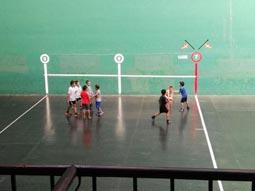 Escuela de pelota en el Beotibar