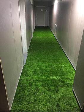 Hierba artificial en pasillos